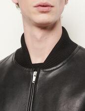 Giubbotto con zip in pelle : Giubbotti & Giacche colore Blu Marino