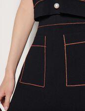 Gonna corta in maglia : Gonne & Short colore Nero