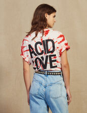 T-Shirt Tie And Dye : null couleur Rouge