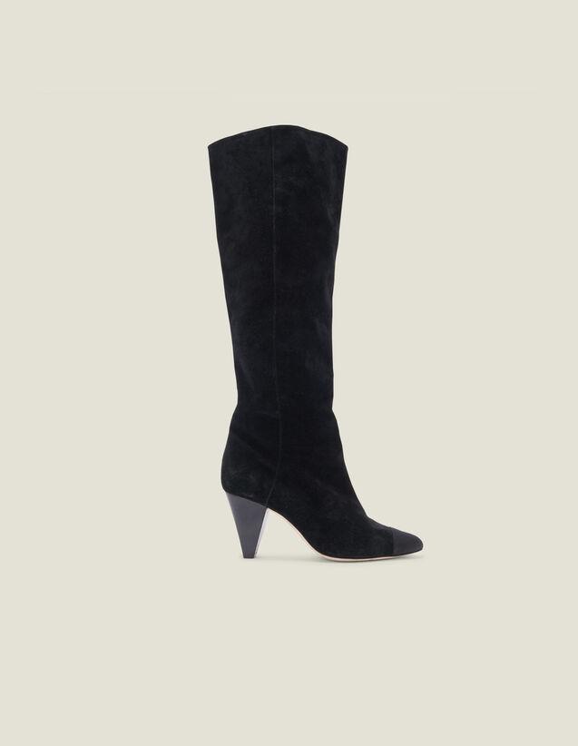 Stivali in pelle a punta : LastChance-ES-F50 colore Nero