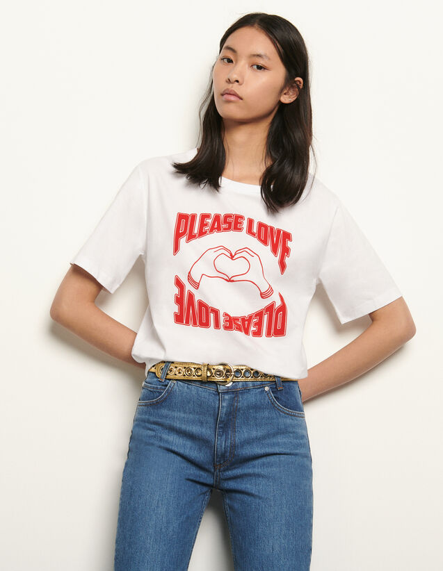 T-shirt in cotone organico : Collezione Estiva colore Bianco
