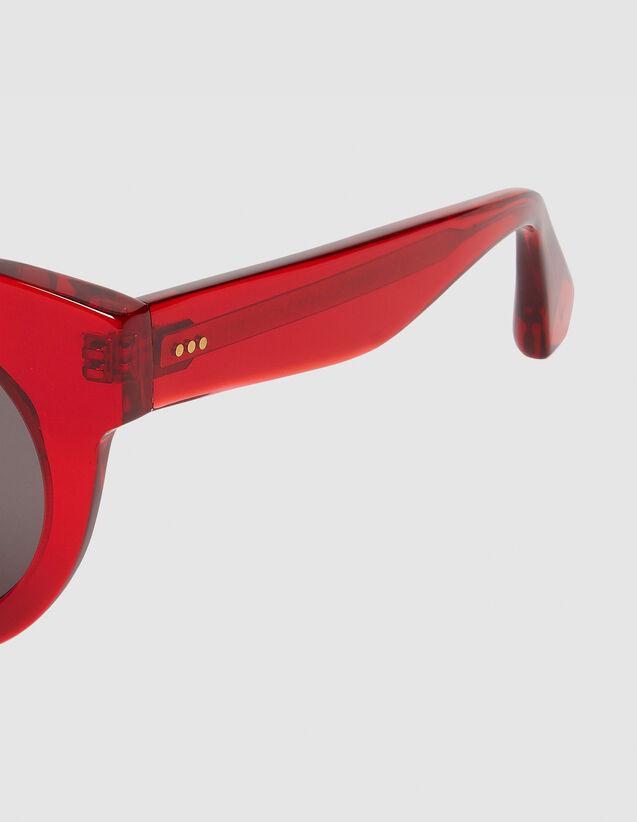 Occhiali da sole rotondi oversize : L'intera collezione Invernale colore Rosso