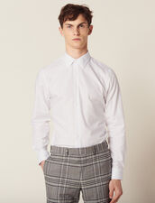 Camicia Formale Oxford : SOLDES-CH-HSelection-PAP&ACCESS-2DEM colore Bianco