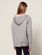 Cardigan Hoodie Avec Doublure All Over : null couleur Gris