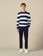 Pullover A Righe Larghe : Maglioni & Cardigan colore Ecru/Rouille