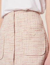Gonna Corta In Tweed : Gonne & Short colore Rosa