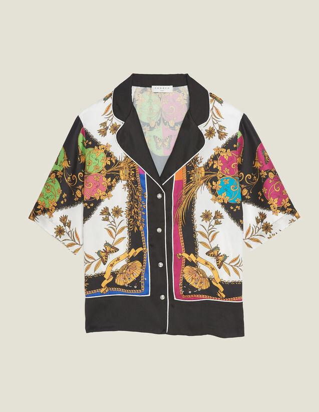 Camicia Stampata A Maniche Corte : null colore Multicolore