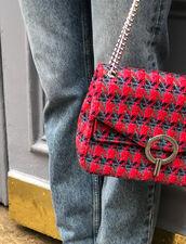 Borsa Yza in tweed : Il meglio della stagione colore Rosso