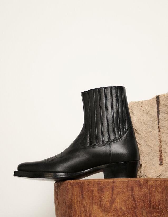Stivaletti texani : Scarpe colore Nero