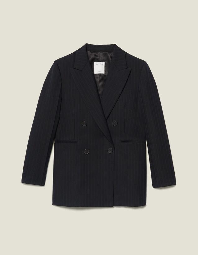 Blazer oversize a righe : VP-ES-FBest-sellers colore Nero
