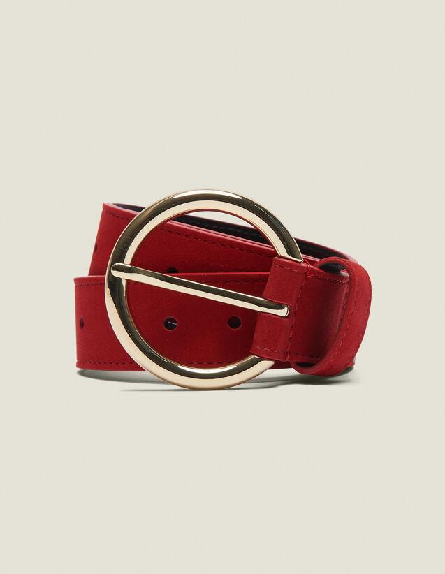 Cintura In Pelle : Collezione Estiva colore Rouge vif