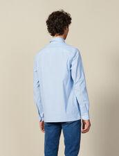 Camicia A Righe Con Taschino : Collezione Inverno colore Blu/bianco
