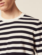 Pullover Marinière In Cotone E Cashmere : JP-UK-HSelectionPAP colore Ecru
