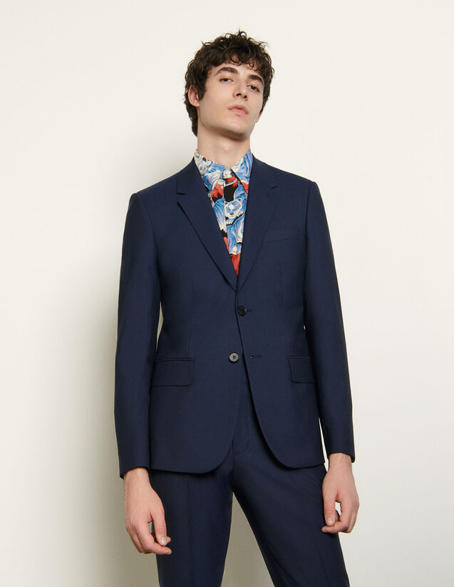 Veste de costume en laine froide : Costumes & Smokings couleur Bleu