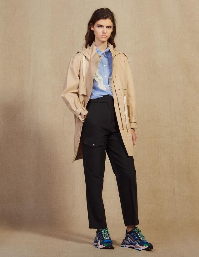 Parka In Cotone : Cappotti colore Beige