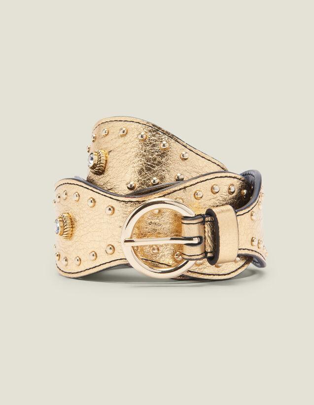 Cintura Dorata Con Borchie : FBlackFriday-FR-FSelection-ACCESS colore Full Gold