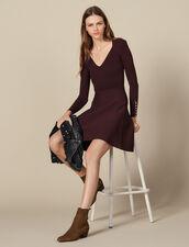 Vestito in maglia con bottoni gioiello : Abiti colore Brown
