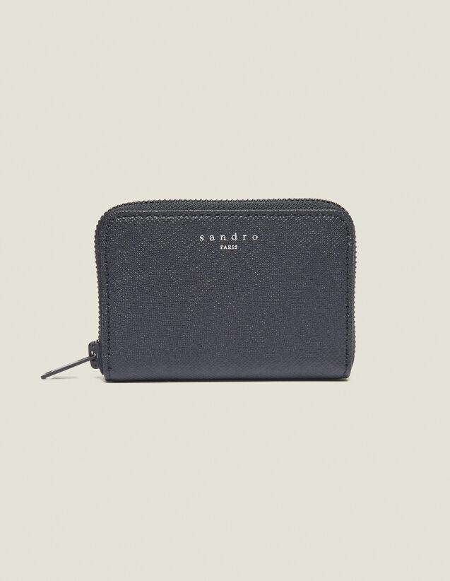 Porta Carte Con Zip In Pelle Saffiano : Collezione Estiva colore Nero