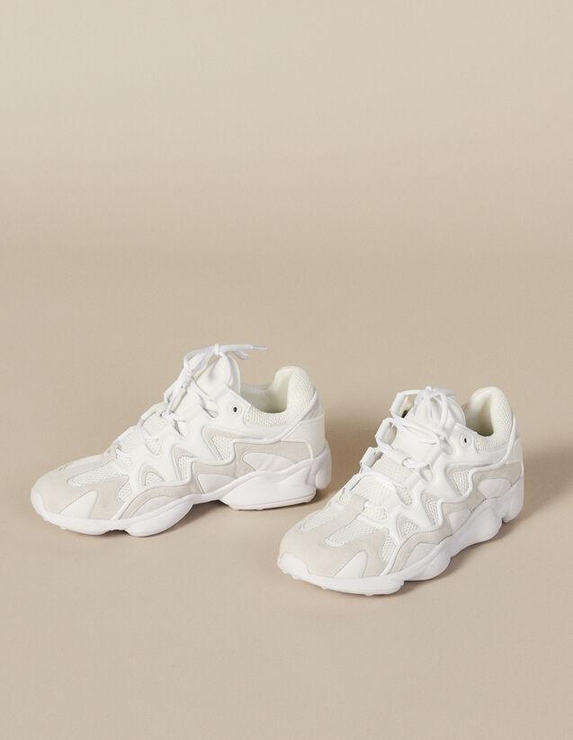 Sneaker In Mix Di Materiali : Scarpe colore Beige