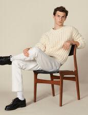 Pull tricoté à la main : Toute la Sélection couleur Ecru