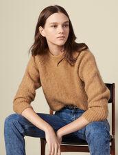 Pullover girocollo con maniche raglan : Maglieria & Cardigan colore Cammello