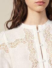 Camicia In Mix Di Pizzo : LastChance-FR-FSelection colore Ecru