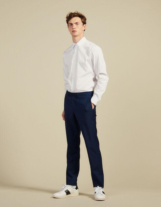 Pantaloni Da Completo In Lana E Mohair : Abiti & Smoking colore Blu