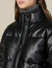 Piumino Oversize In Pelle : Cappotti colore Nero