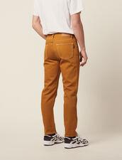 Pantalon En Toile De Coton : Sélection Last Chance couleur Ocre