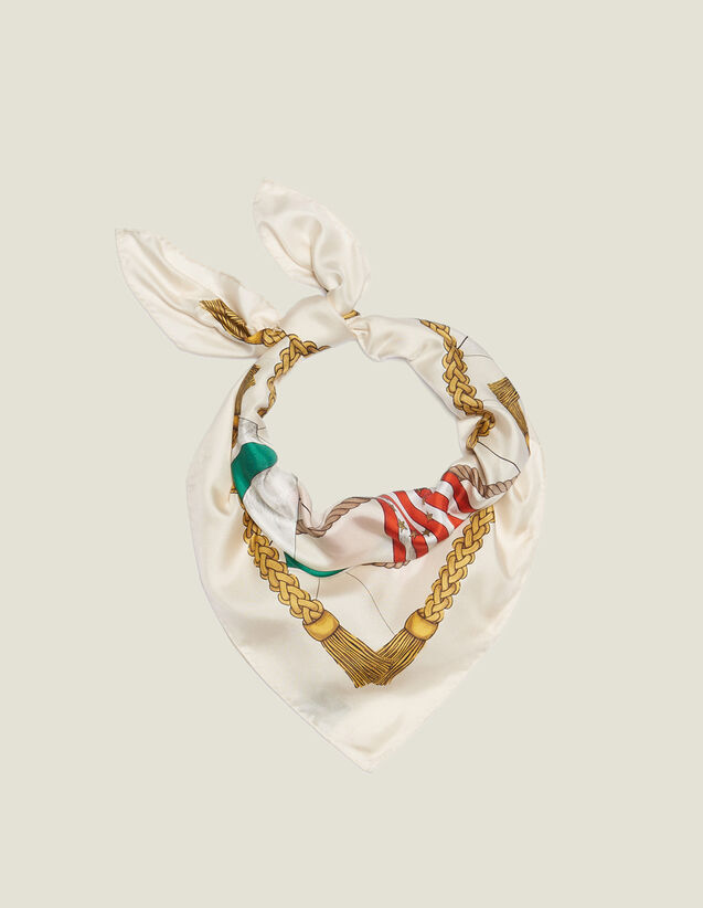 Foulard In Seta Stampata : Sciarpe colore Multicolore