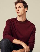 Pull en maille fine en laine : Pulls & Cardigans couleur Bordeaux