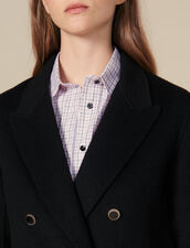 Blazer doppiopetto in lana : Giacche & Giubbotti colore Nero