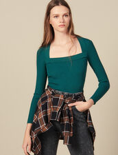 Pullover con scollo quadrato : FBlackFriday-FR-FSelection-30 colore Nero