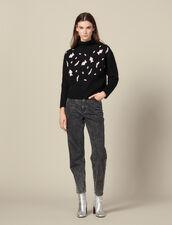 Pullover Con Macchie Leopardate : LastChance-ES-F50 colore Nero