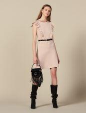 Abito in maglia a coste ornato di perle : FBlackFriday-FR-FSelection-Robes colore Carne