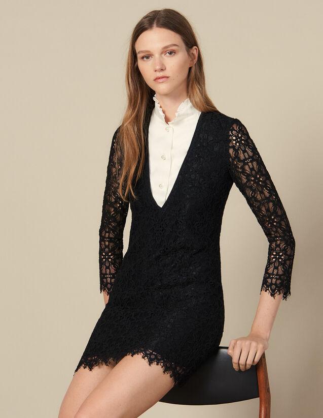 Robe Courte Effet Trompe L Oeil : Robes couleur Noir