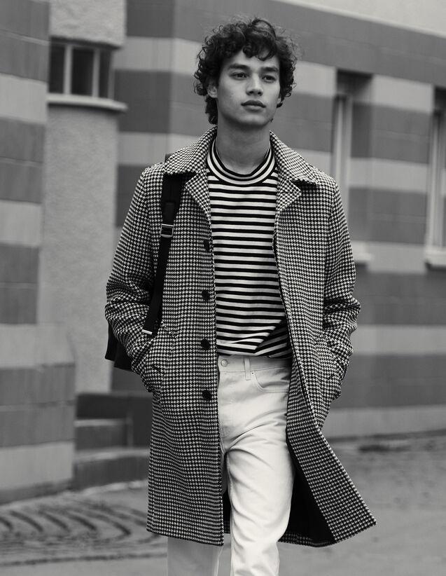Cappotto Pied-De-Poule : Trench & Cappotti colore Nero/Bianco
