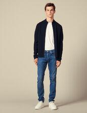 Cardigan in lana con zip : Maglioni & Cardigan colore Nero