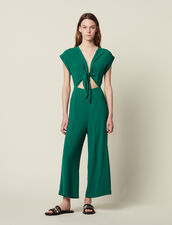 Tuta Pantalone Con Top Annodato : null colore Verde