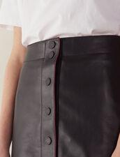 Jupe En Cuir Coupe Trapèze : LastChance-FR-FSelection couleur Noir