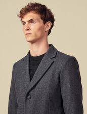 Manteau à fermeture trois boutons : LastChance-IT-H40 couleur Gris Chiné