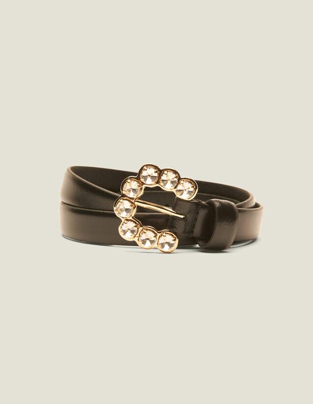 Cintura Con Fibbia A Strass : Cinture colore Nero