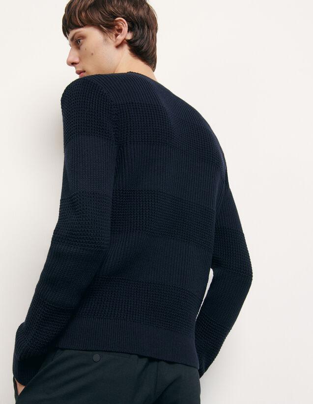 Pull col rond en coton : Pulls & Cardigans couleur Marine