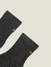 Chaussettes Lurex Avec Broderie : LastChance-FR-FSelection couleur Noir