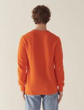 Pullover Con Maglia In Rilievo In Cotone : Copy of Tutta la Selezione colore Bianco