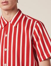 Camicia Maniche Corte Righe A Contrasto : LastChance-CH-HSelection-Pap&Access colore Rosso