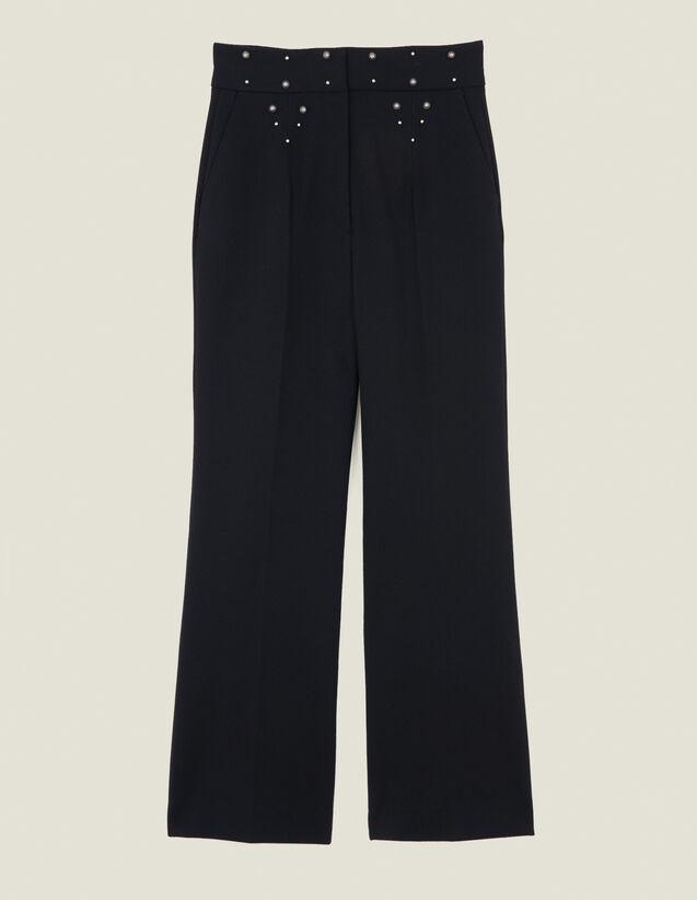 Pantaloni con cintura ornata di borchie : LastChance-ES-F50 colore Nero