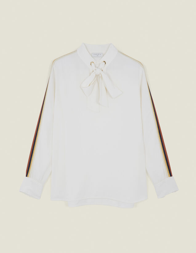 Top Fluido Con Decorazione : Top & Camicie colore Ecru