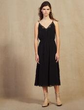 Robe Lingerie En Jacquard Ton Sur Ton : null couleur Noir