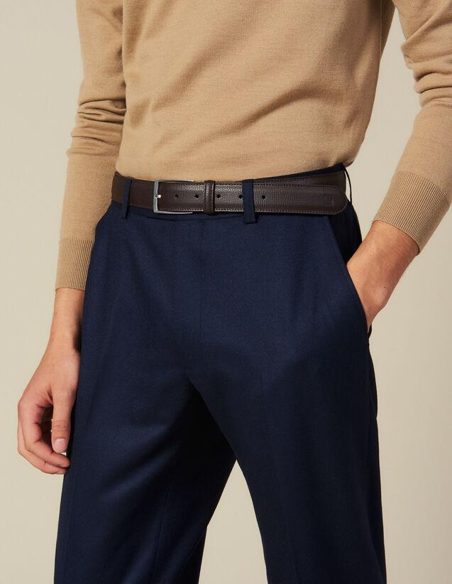 Cintura In Pelle A Grana : Collezione Inverno colore Marron